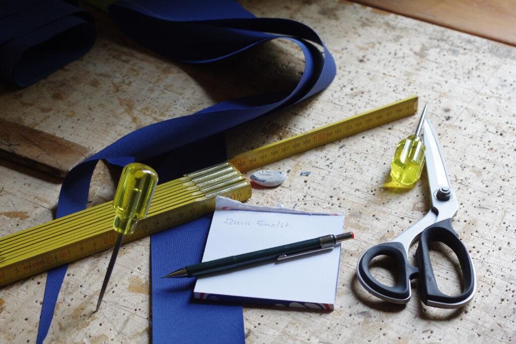 Traditionelles Segelmacherhandwerk